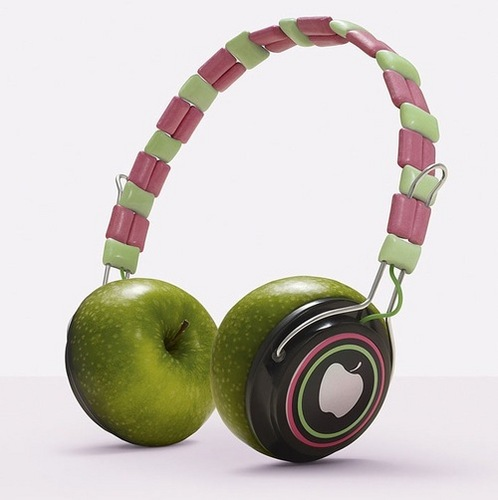 apfel, apple Headphones