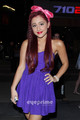 Ariana Grande posing outside Nokia Theatre in L.A, Aug 7 - ariana-grande-and-elizabeth-gillies photo