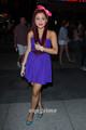 Ariana Grande posing outside Nokia Theatre in L.A, Aug 7