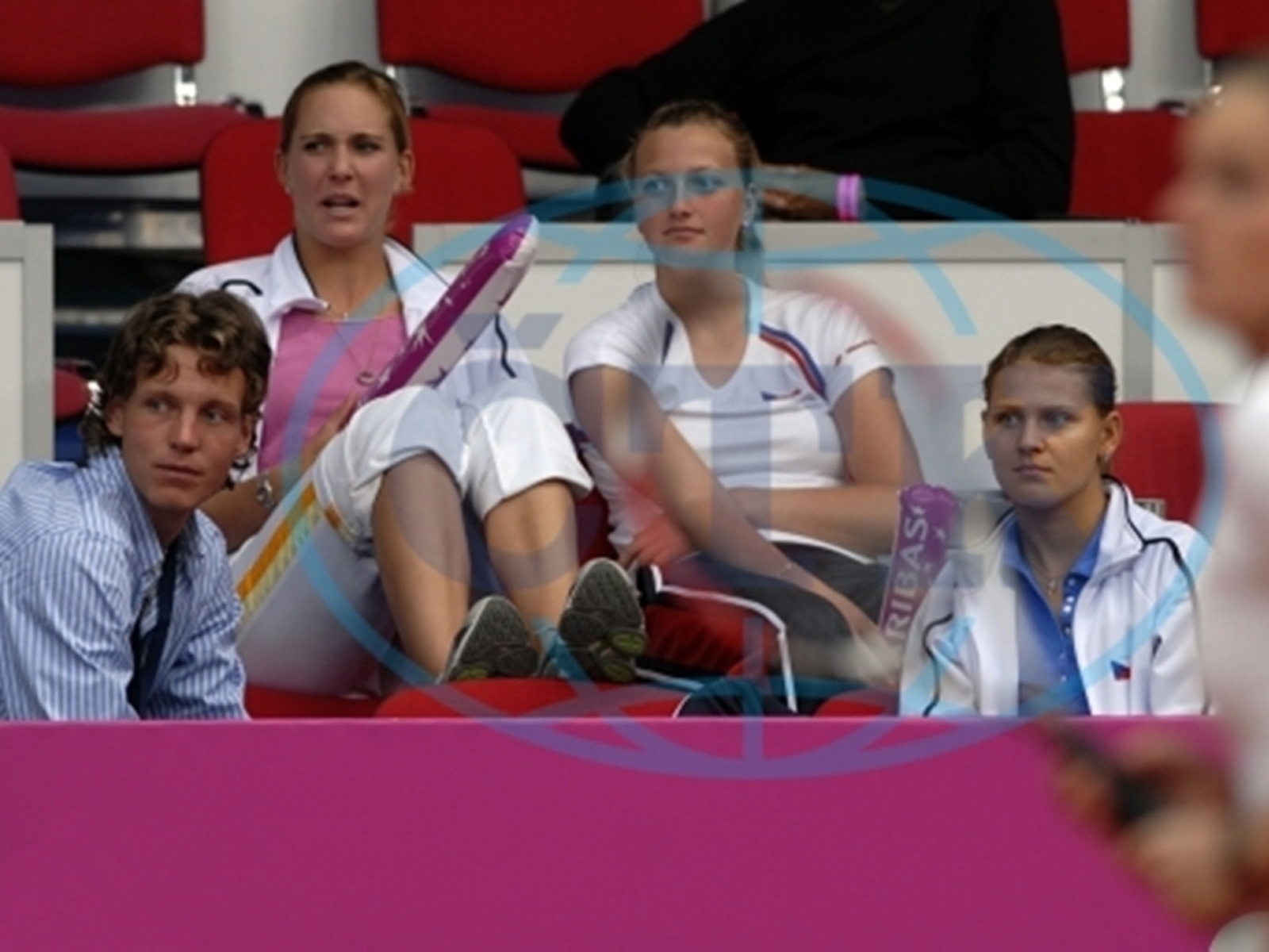 Berdych,Vaidisova ,Kvitova and Safarova in 2007