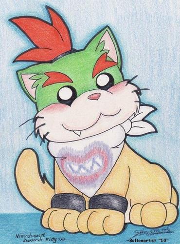 Nintendo wallpaper entitled Bowser Jr. Kitty