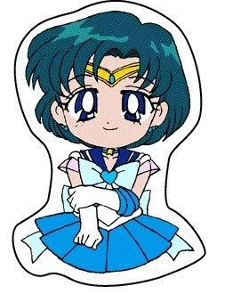 Sailor Mercury 바탕화면 with 아니메 entitled Chibi Sailor Mercury