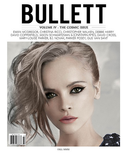 Christina Ricci on the Cover of the Volume IV Issue of Bullett Magazine: The Cosmic Issue