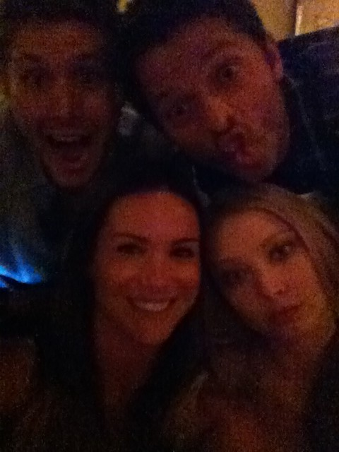 Danneel Harris with Elisabeth Harnois (Shelly), Jensen Ackles and Misha Collins