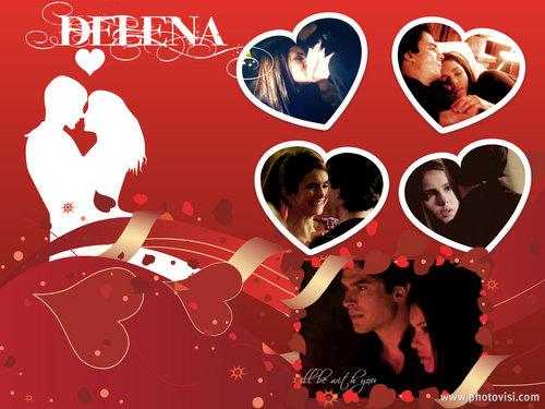 Damon & Elena wallpaper entitled Delena Collage