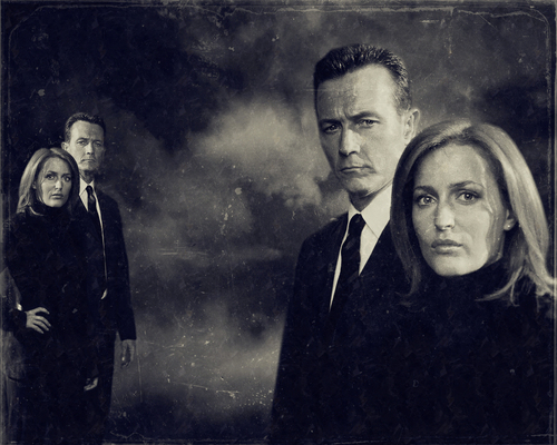 John Doggett wallpaper probably containing a business suit and a well dressed person entitled Doggett and Scully