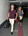 Ed Westwick And Mom Take Off From LAX, Aug 4 - ed-westwick photo