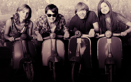 Emma, Daniel, Rupert and Bonnie