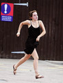 Emma Watson gives a Hell of a montrer outside Tesco in London, Aug 5