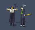 Dracula and the Joker <3 - evil photo
