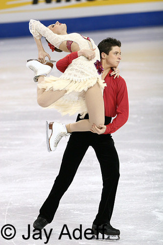 Tessa Virtue & Scott Moir wallpaper probably containing a hip boot called FOUR CONTINENTS FD Canada 2006