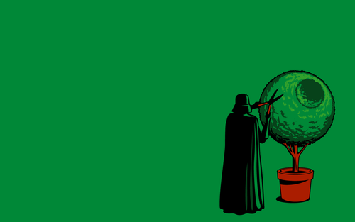Star Wars wallpaper titled Funny Darth Vader Wallpaper