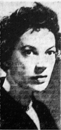 Grayson Hall (then Shirley Grayson) in 1953