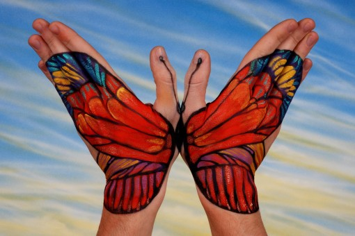 Hand painting body painting photo 24326147 fanpop for Watercolor paintings of hands