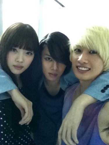 Heechul Eunhyuk and new Sulli Haircut