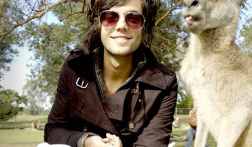 Ian and a canguro