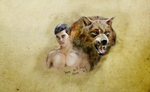 Jacob Black As Himself and A serigala, wolf