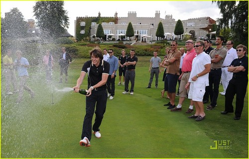 James and Oliver Phelps: Shooting Stars Golf Tournament