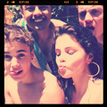 Justin and selena with ryan butler instagram pic