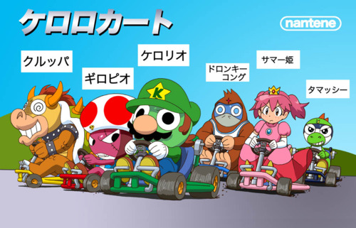 Sgt. Frog (Keroro Gunso) wallpaper containing anime entitled Keroro Mario Kart