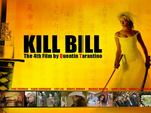 Kill Bill wallpaper probably containing a sign and anime entitled Kill Bill
