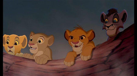 Kovu, Kiara, Simba and Nala