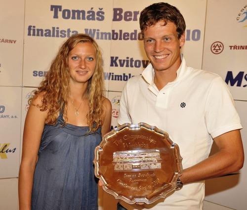 Kvitova and Berdych 2010