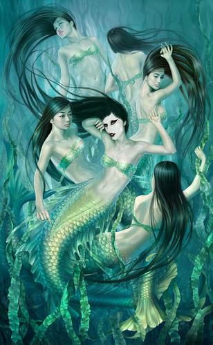 Lady Gaga as a Mermaid