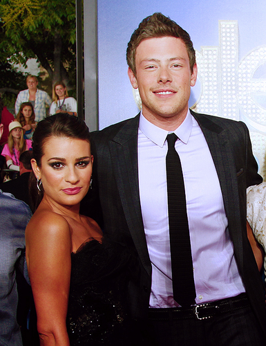 Lea Michele & Cory Monteith || 3D Concert Movie - Red Carpet