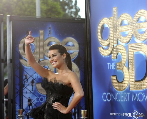 "Lea @ The Premiere of ""Glee The 3D संगीत कार्यक्रम Movie"""