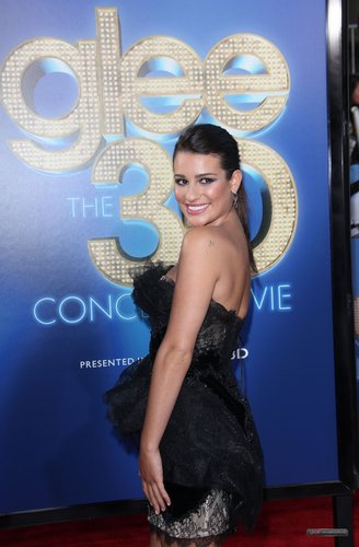 "Lea @ The Premiere of ""Glee The 3D konsiyerto Movie"""
