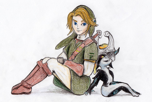 Link_and_Midna - the-legend-of-zelda Fan Art