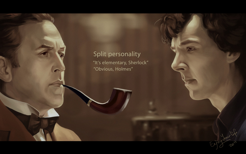 Sherlock Holmes wallpaper entitled Livanov and Cumberbatch