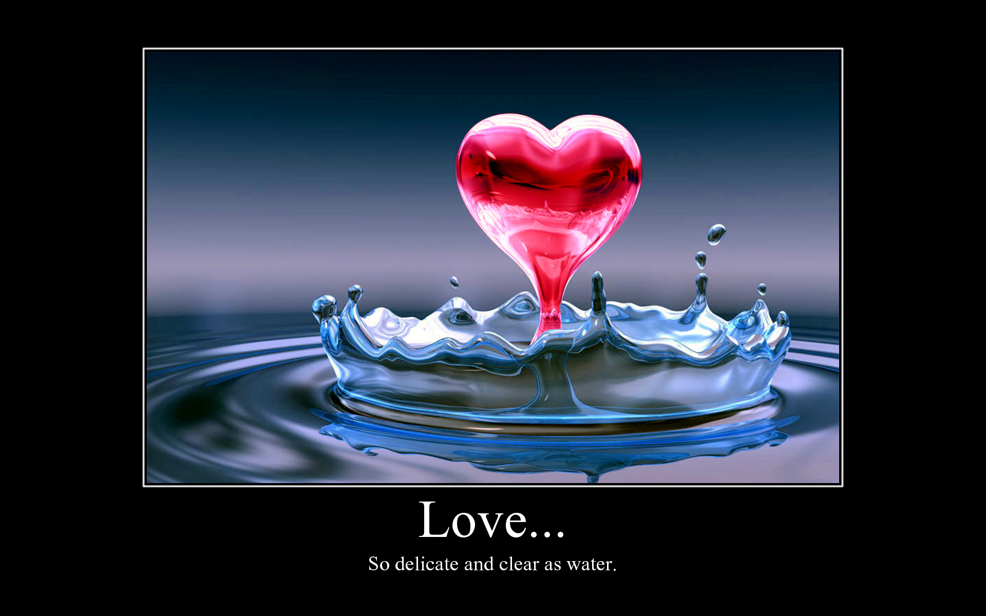 Love Heart Water