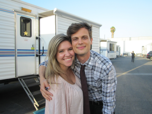 MGG on set