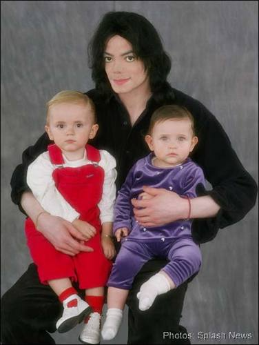 The MJ Fanpop family L.O.V.E. wallpaper with a sweat suit and an outerwear entitled MICHAEL AND HIS KIDS