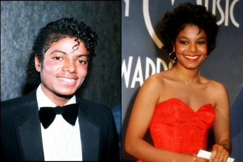 MICHAEL JACKSON AND JANET JACKSON SIDE BY SIDE PICTURE IN 1983