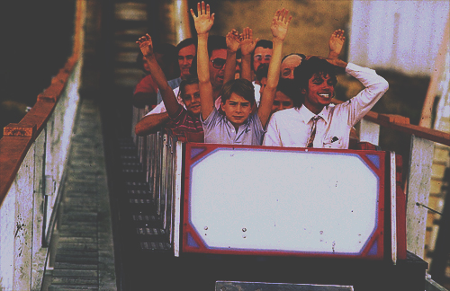 MJ on the roller coaster