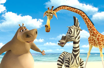 Marty, Melman and Gloria