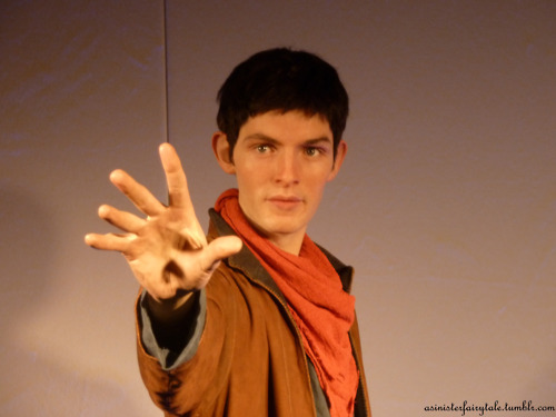 Merlin waxwork at warwick 城堡