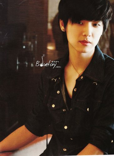 Min Hyuk with Black hair