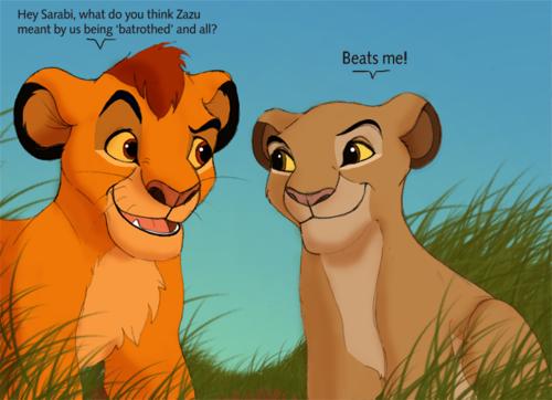 Mufasa and Sarabi cubs