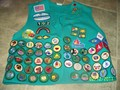 My juniors girl scout vest (not including my bronze award)
