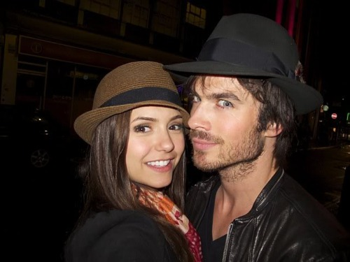 Ian Somerhalder e Nina Dobrev wallpaper titled Nian old pic