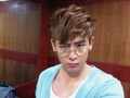 Nichkhun with grandpa glasses :P
