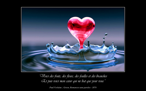 love quotes wallpaper containing a vodka martini, a martini, and a strawberry daiquiri entitled Paul Verlaine Poetry