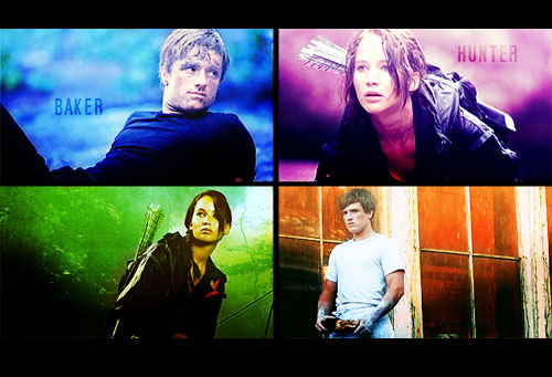 The Hunger Games wallpaper probably with a concert entitled Peeta/Katniss