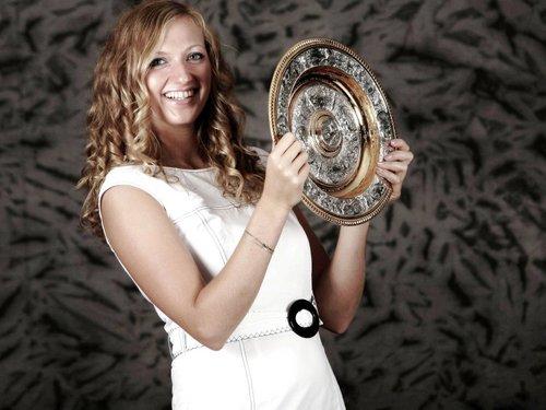 Petra Kvitova sexy wimbledon achtergrond