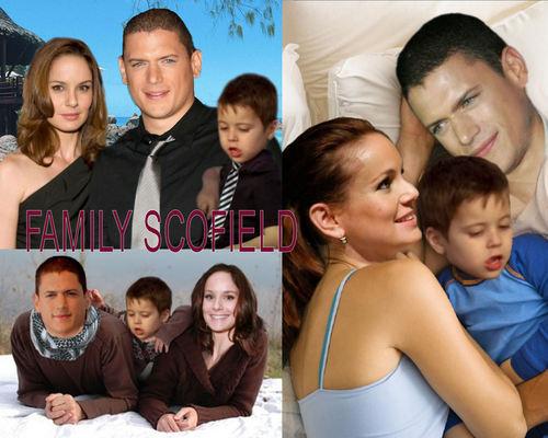 Wentworth Miller Hintergrund containing a portrait titled Prison Break - Family Scofield