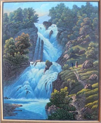 Sherlock Holmes karatasi la kupamba ukuta entitled Reichenbach Falls
